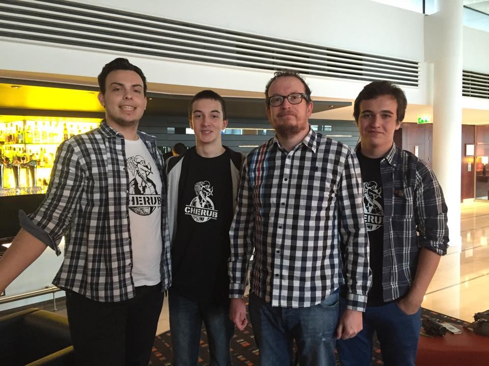 Louis, Milhan, Rob' et moi